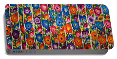 Floral Textile Portable Battery Charger