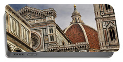 Portable Battery Charger featuring the photograph Florence Duomo by Steven Sparks