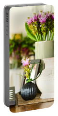 Flower Arrangement In Beautiful Interior Setting Portable Battery Charger