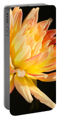 Portable Battery Charger featuring the photograph Flower Reflected On Black by Donna Corless