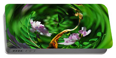 Portable Battery Charger featuring the photograph Flowers Gone Wild by Cindy Manero