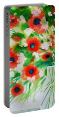 Flowers In A Glass Portable Battery Charger