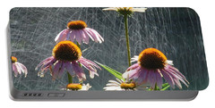 Flowers In The Rain Portable Battery Charger
