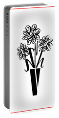 Portable Battery Charger featuring the photograph Flowers In Type by Connie Fox