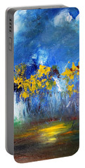 Flowers Of Maze In Blue Portable Battery Charger