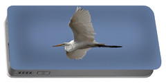 Portable Battery Charger featuring the photograph Flying Egret by Jeannette Hunt