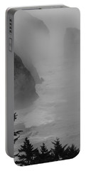 Fog And Cliffs Of The Oregon Coast Portable Battery Charger by Mick Anderson