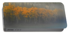 Portable Battery Charger featuring the photograph Foggy Autumn Morning by Albert Seger