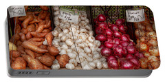 Food - Vegetable - Sweet Potatoes-garlic- And Onions - Yum  Portable Battery Charger by Mike Savad