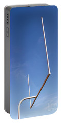 Portable Battery Charger featuring the photograph Football Goal by Henrik Lehnerer