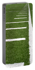 Portable Battery Charger featuring the photograph Football Lines by Henrik Lehnerer