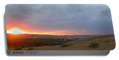 Foothills Sunset Portable Battery Charger by Stuart Turnbull