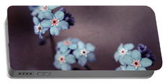 Forget Me Not 01 - S05dt01 Portable Battery Charger by Variance Collections