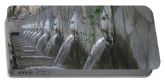 Portable Battery Charger featuring the photograph Fountain by David Gleeson