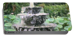 Portable Battery Charger featuring the photograph Fountain by Donna  Smith