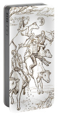 Portable Battery Charger featuring the digital art Four Mad Cowboys Of The Apocalypse by Russell Kightley