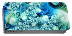 Fractal And Swan Portable Battery Charger