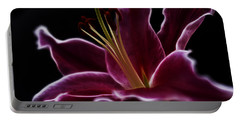 Fractal Lily Petals Portable Battery Charger