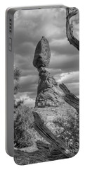 Framed Balance Rock Bw Portable Battery Charger