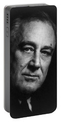 Portable Battery Charger featuring the photograph Franklin Delano Roosevelt  - President Of The United States Of America by International  Images
