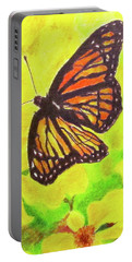 Portable Battery Charger featuring the drawing Free To Fly by Beth Saffer
