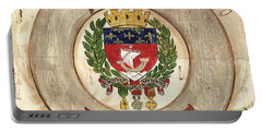 French Coat Of Arms Portable Battery Charger by Debbie DeWitt