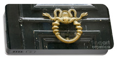 Portable Battery Charger featuring the photograph French Snake Doorknocker by Victoria Harrington