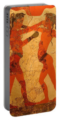 Fresco Of Boxing Children Portable Battery Charger