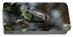 Frog In The Millpond Portable Battery Charger by Kay Lovingood