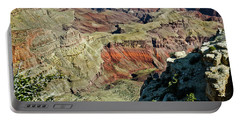 Portable Battery Charger featuring the painting From Yaki Point 6 Grand Canyon by Bob and Nadine Johnston