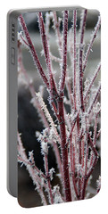 Frosty Coral Maple Portable Battery Charger by Mick Anderson