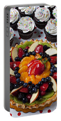 Fruit Tart Pie And Cupcakes  Portable Battery Charger by Garry Gay