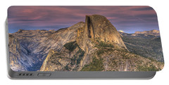 Full Moon Rise Behind Half Dome Portable Battery Charger by Jim And Emily Bush