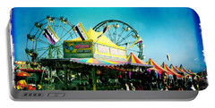 Portable Battery Charger featuring the photograph Fun At The Fair by Nina Prommer