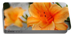 Portable Battery Charger featuring the photograph Garden Lily by Davandra Cribbie