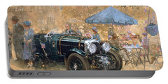 Garden Party With The Bentley Portable Battery Charger by Peter Miller