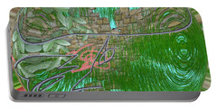 Portable Battery Charger featuring the digital art Garden Wall by George Pedro