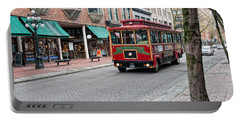 Portable Battery Charger featuring the digital art Gastown Street Scene by Carol Ailles