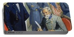 General Ulysses Grant Accepting The Surrender Of General Lee At Appomattox  Portable Battery Charger