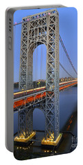 George Washington Bridge At Twilight Portable Battery Charger