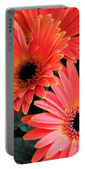 Gerbera Bliss Portable Battery Charger by Rory Sagner