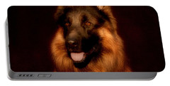 German Shepherd Portrait Portable Battery Charger