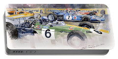 Germany Gp Nurburgring 1969 Portable Battery Charger