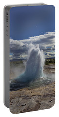 Portable Battery Charger featuring the photograph Geysir 2 by David Gleeson