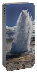 Portable Battery Charger featuring the photograph Geysir 3 by David Gleeson