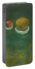 Portable Battery Charger featuring the painting Ginger Pot by Kathleen Grace