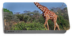 Giraffe Against Blue Sky Portable Battery Charger