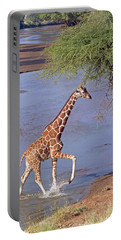 Giraffe Crossing Stream Portable Battery Charger