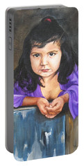 Girl From San Luis Portable Battery Charger