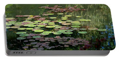 Giverny Lily Pads Portable Battery Charger